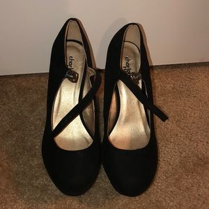 Charlotte Russe Black Wedge